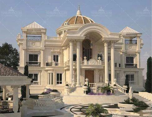 独立欧式别墅案例门头设计别墅参考结构图屋顶施工图石材图片