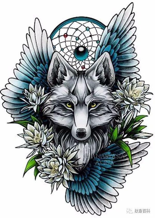 狐狸纹身手稿, 媚中带着可爱
