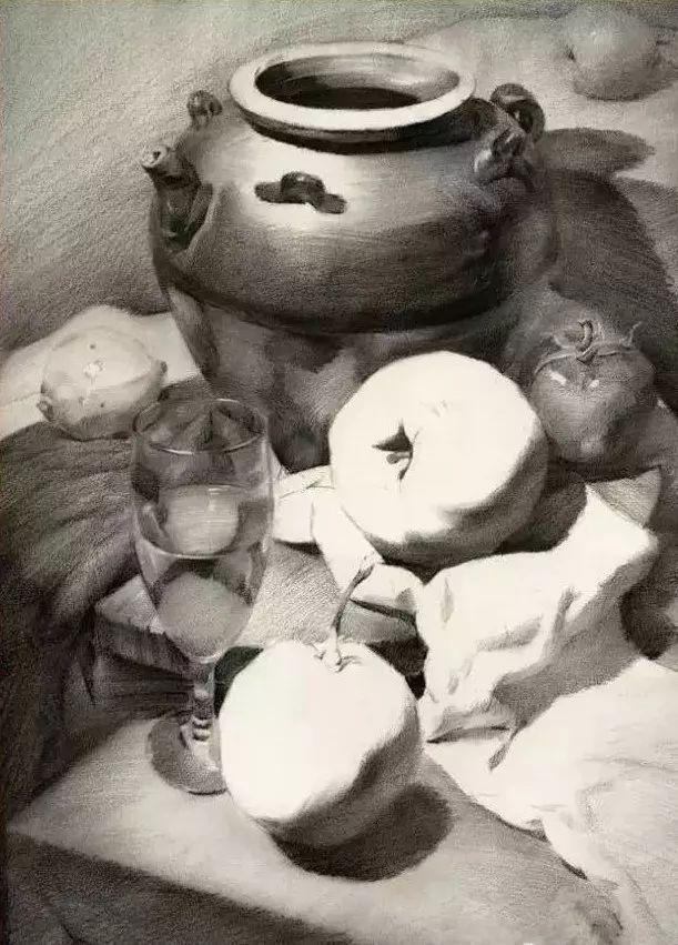 创意素描罐子黑白