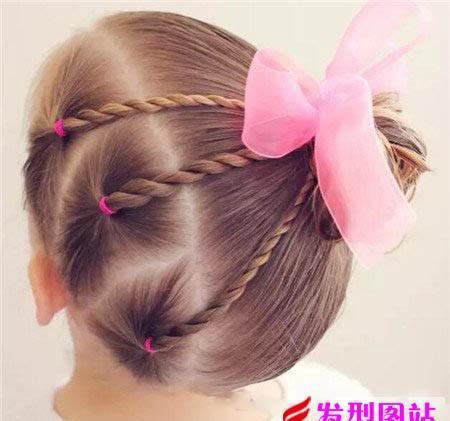 最新可爱儿童编发 5——10岁小女孩 编发 发型图片