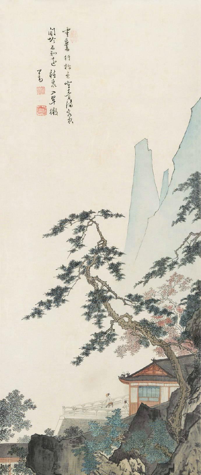 溥儒山水画欣赏图片