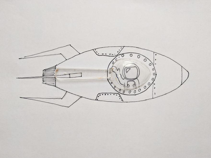 简笔画与实物的有趣结合 Andy Kelly