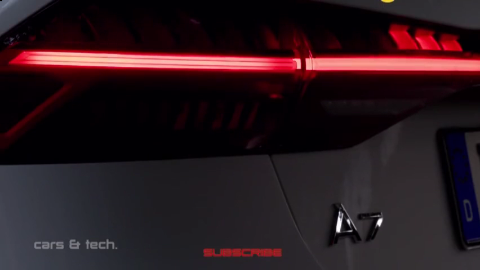 美轮美奂 - 全新奥迪A7(2019)夜间驾驶场景内外灯光展示