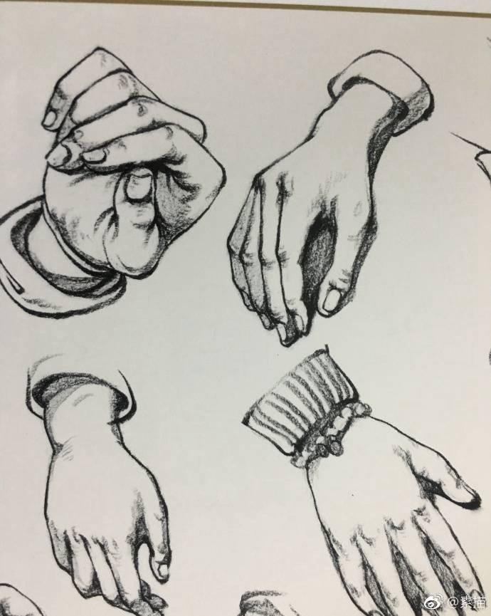 速写手部结构详解,送给学速写的童鞋们!