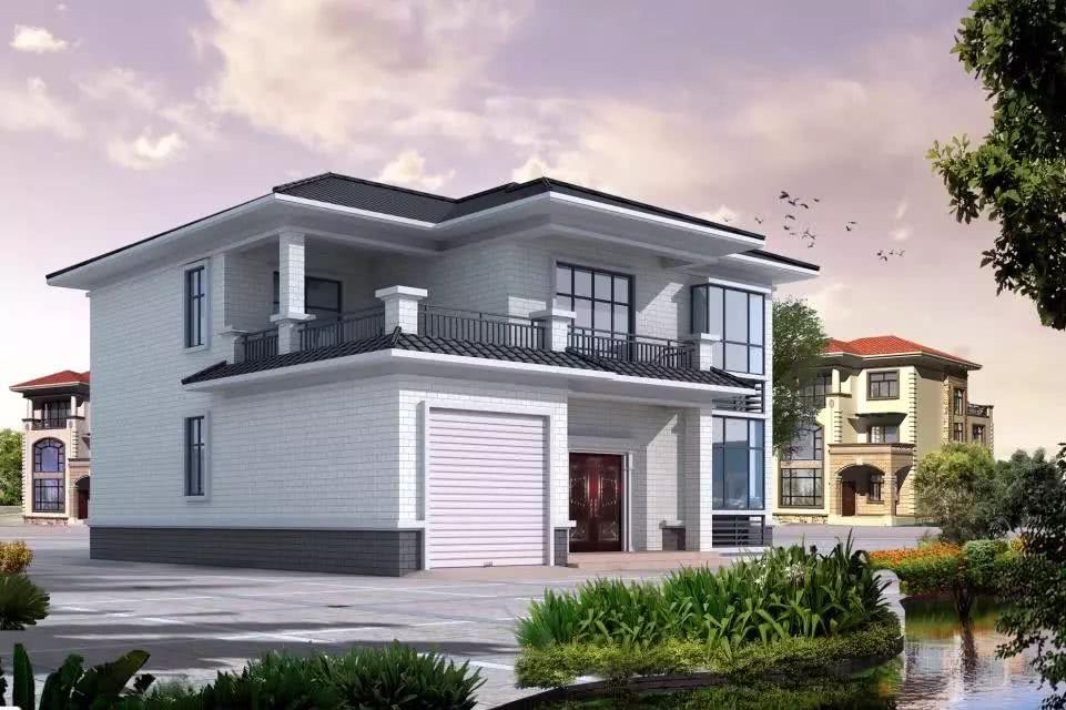 13×12米二层农村小别墅,带堂屋和车库,6间卧室35万你