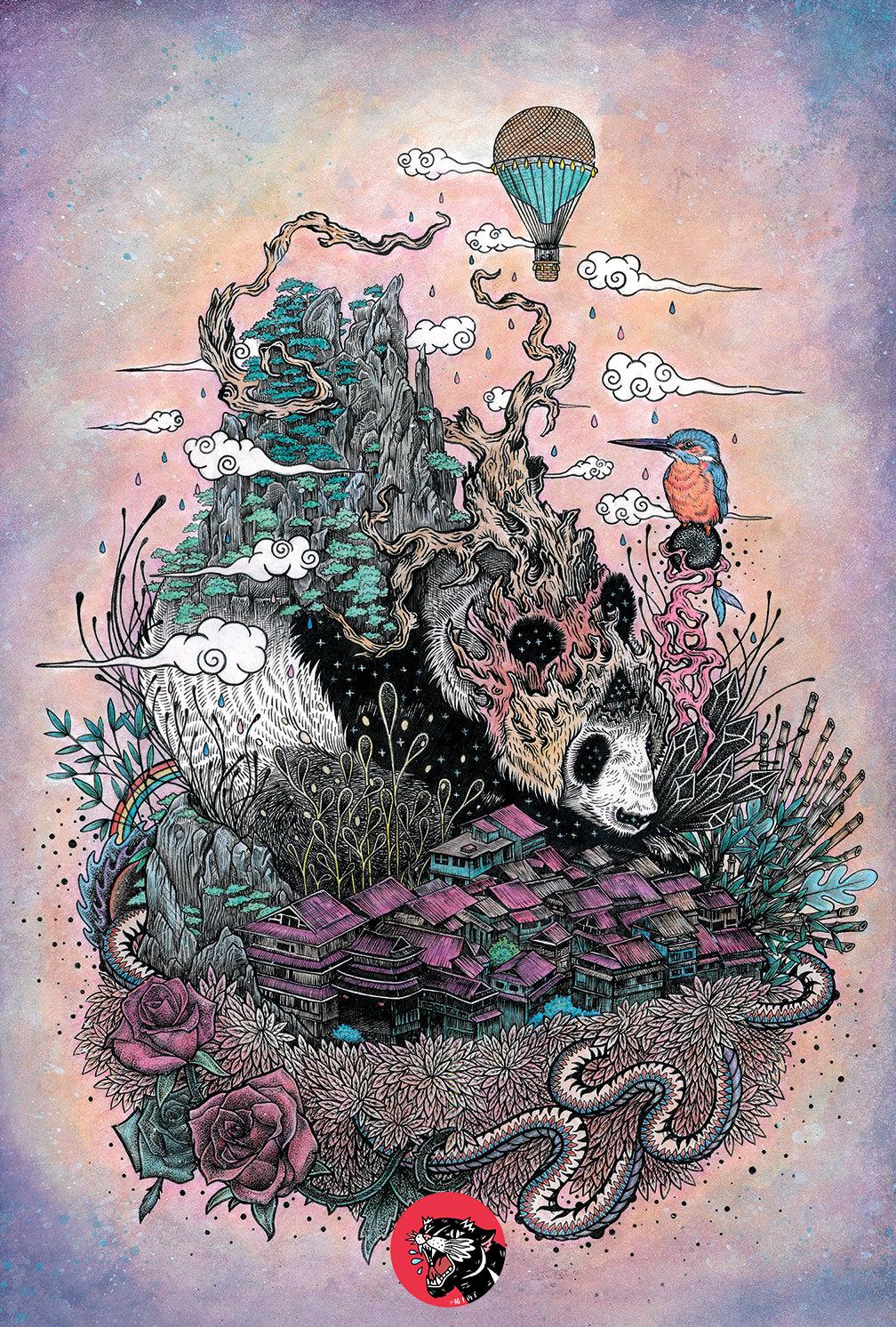 手绘山海经--灵兽插画 图形设计 手绘illustration graphic design