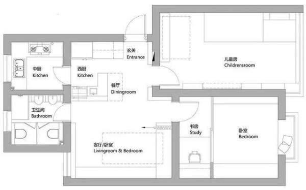 68平米小户型三室一厅照样宜居,快看看是怎么装修的