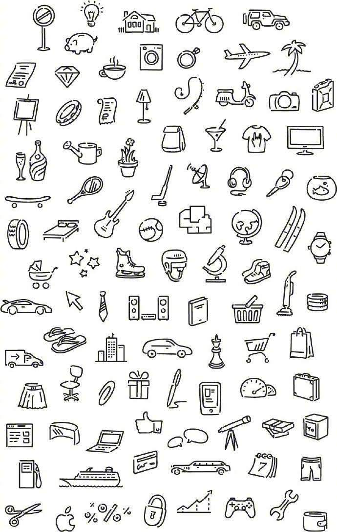 整理分享一组超齐全的食物简笔画绘制参考