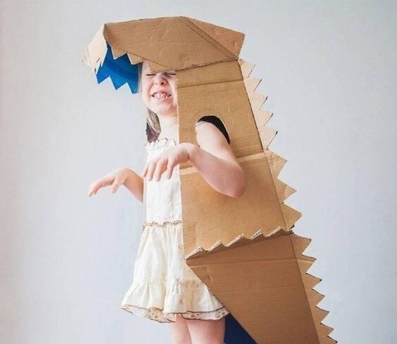 亲子手工,幼儿园老师的最爱纸箱大变身