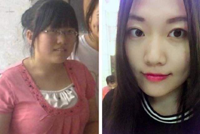 女大学生4年前后对比照,从黑胖丑逆袭成女神,大学就是