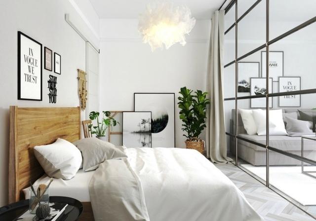 北欧风格小户型公寓装修设计,玻璃墙隔断,阳光暖暖