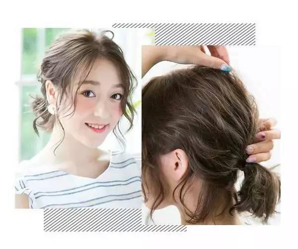 然后不是短卷发的妹子,可以用小卷发棒将头发分成小束弄卷曲.图片