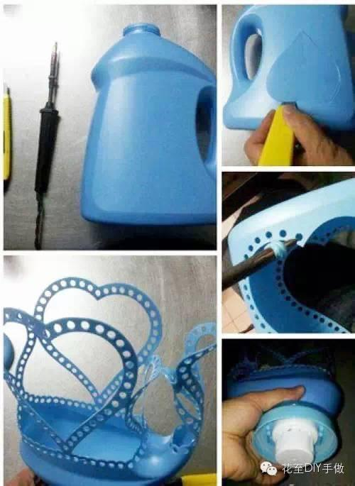 创意亲子手工:洗衣液瓶废物利用图片