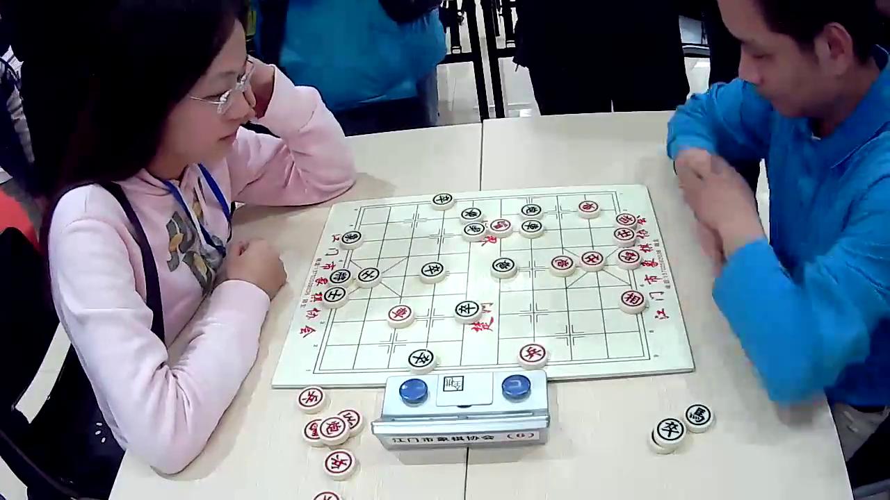 """视频分享者:新会棋王   """"登升安防杯""""象棋女子甲级联赛第一轮,林延秋图片"""