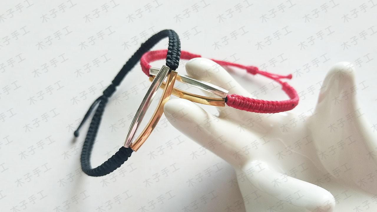手工达人教你用头发做一对情侣手链,可以当定情信物,七夕正合适
