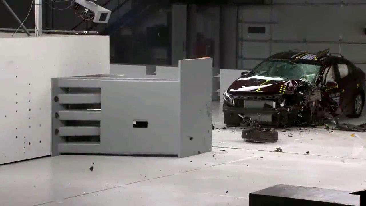 紧凑型小车起亚福瑞迪在小重叠正面碰撞测试中的表现你满意吗