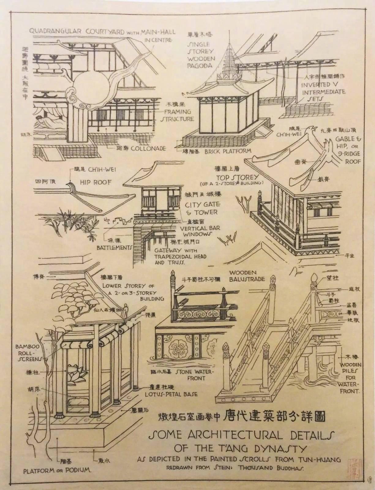 梁思成 · 建筑手绘杰作
