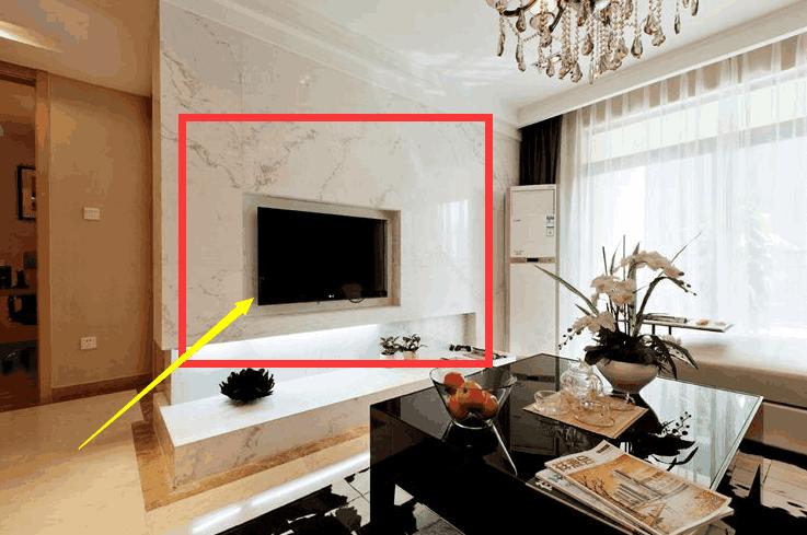 现在越来越多的人家里都流行装嵌入式电视背景墙,一起随贝尔地板小编图片