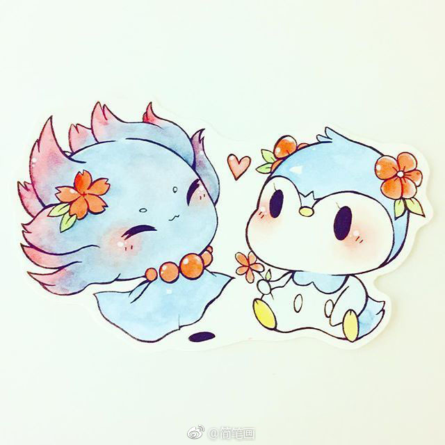 马克笔手绘萌宠(by:birduyen)