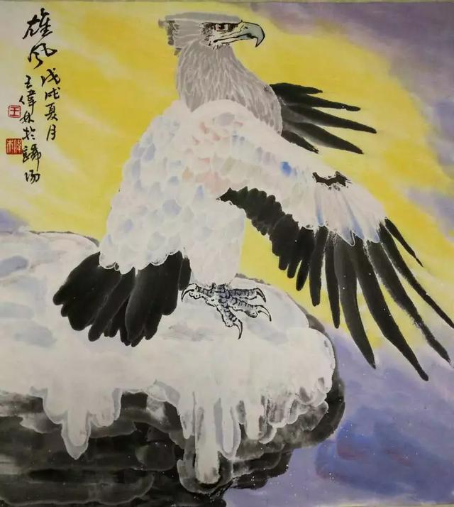 王伟林冰雪矾墨画与写意画欣赏图片