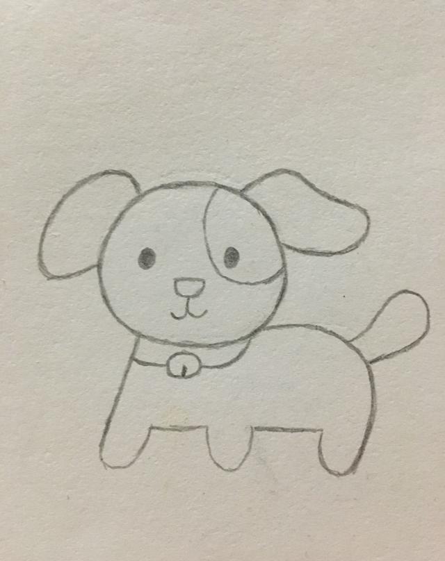 画狗狗简笔画图片