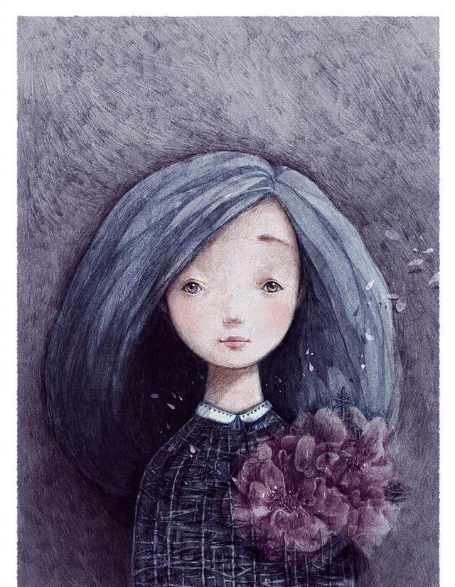 手绘作品|越南插画师tamypu:女孩与故事