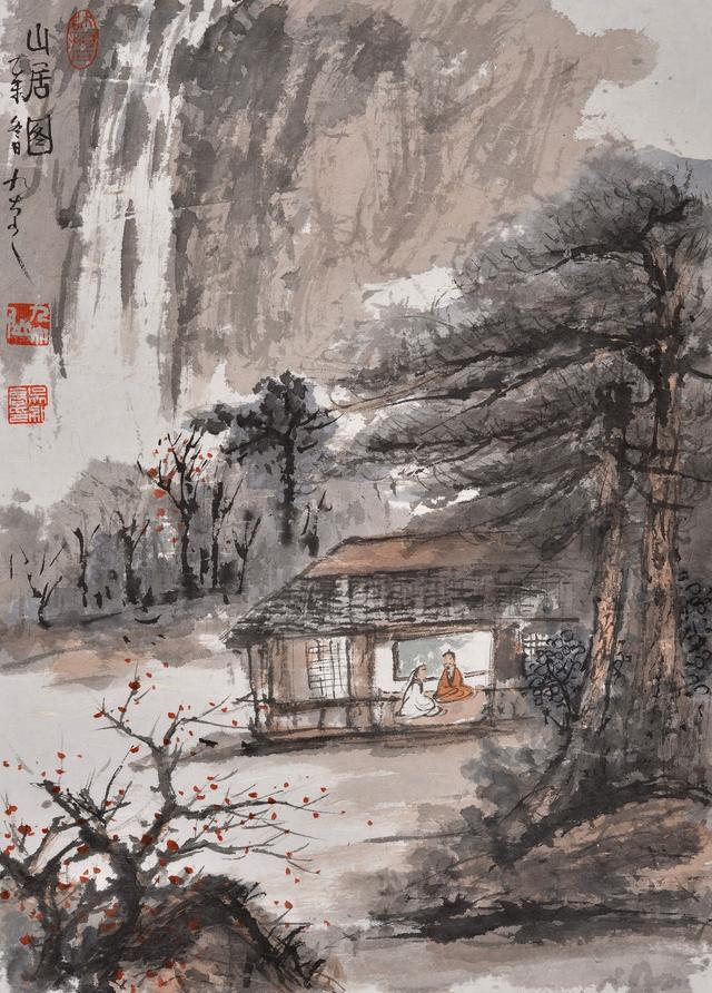 北京宋庄画家村隐居著名山水画家九大山人吴加高图片