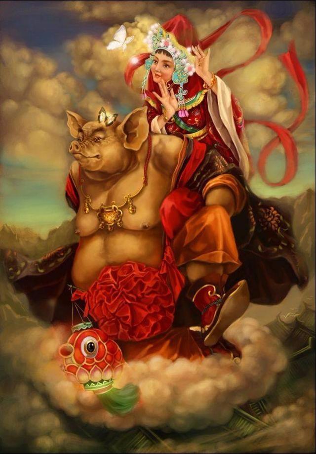 《西游记》大神手绘:白骨精真美,猪八戒真逗,猴哥策马