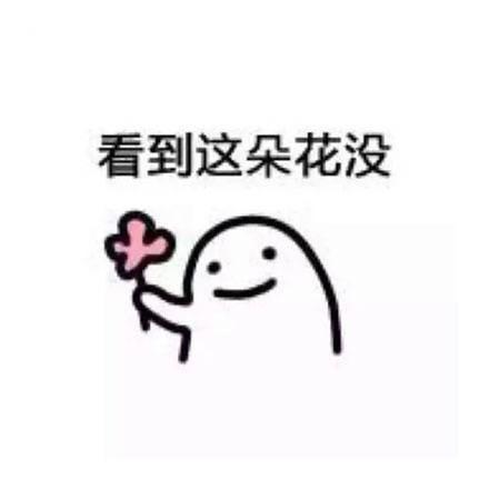 送花花表情包图片