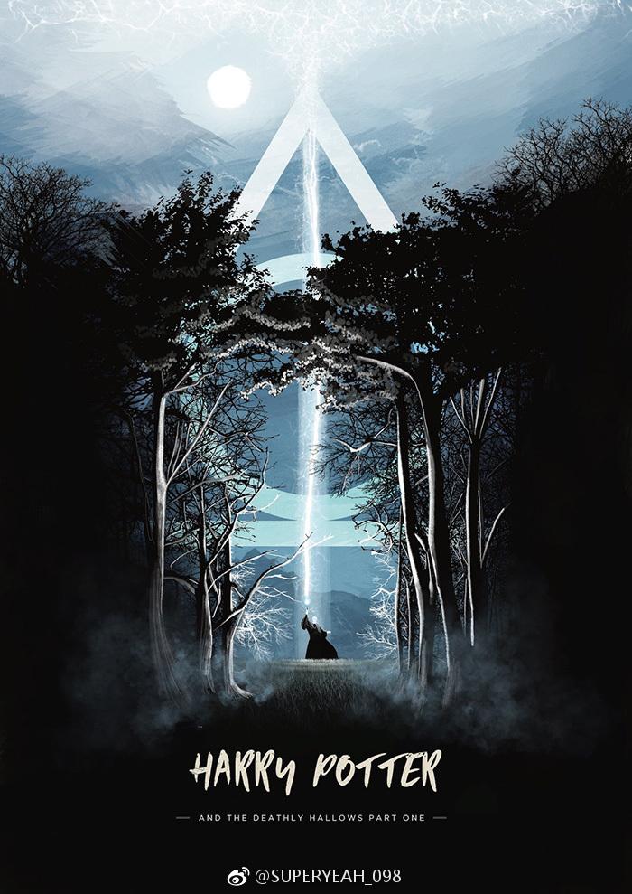 一波哈利波特手绘海报欣赏,666呀