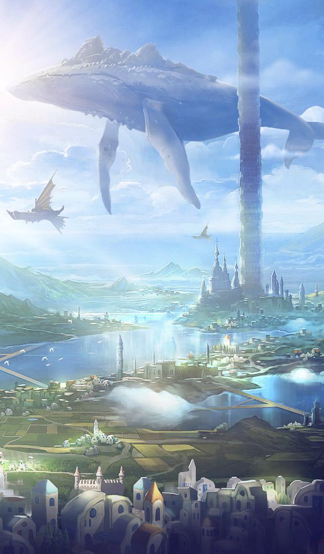 壁纸:许愿一个阿拉德(格兰之森、暗黑城、天空之塔、天帷巨兽)