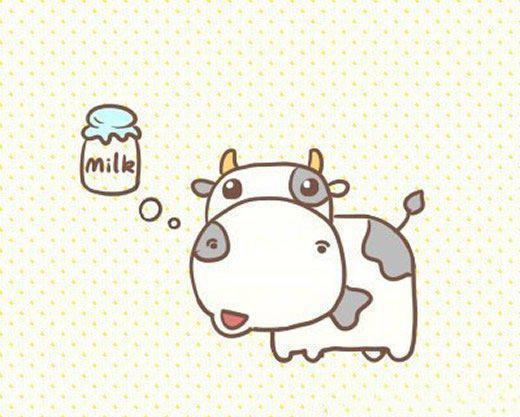 牛奶卡通简笔画