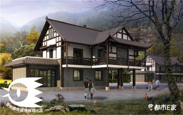 (黔西南苗族建筑设计效果图) 为推进全省村庄规划农房设计大会战