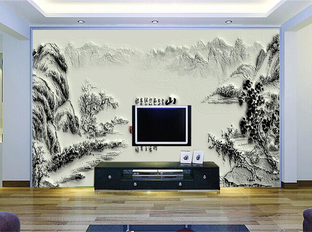 电视墙装修效果图大全 2018硅藻泥电视背景墙推荐
