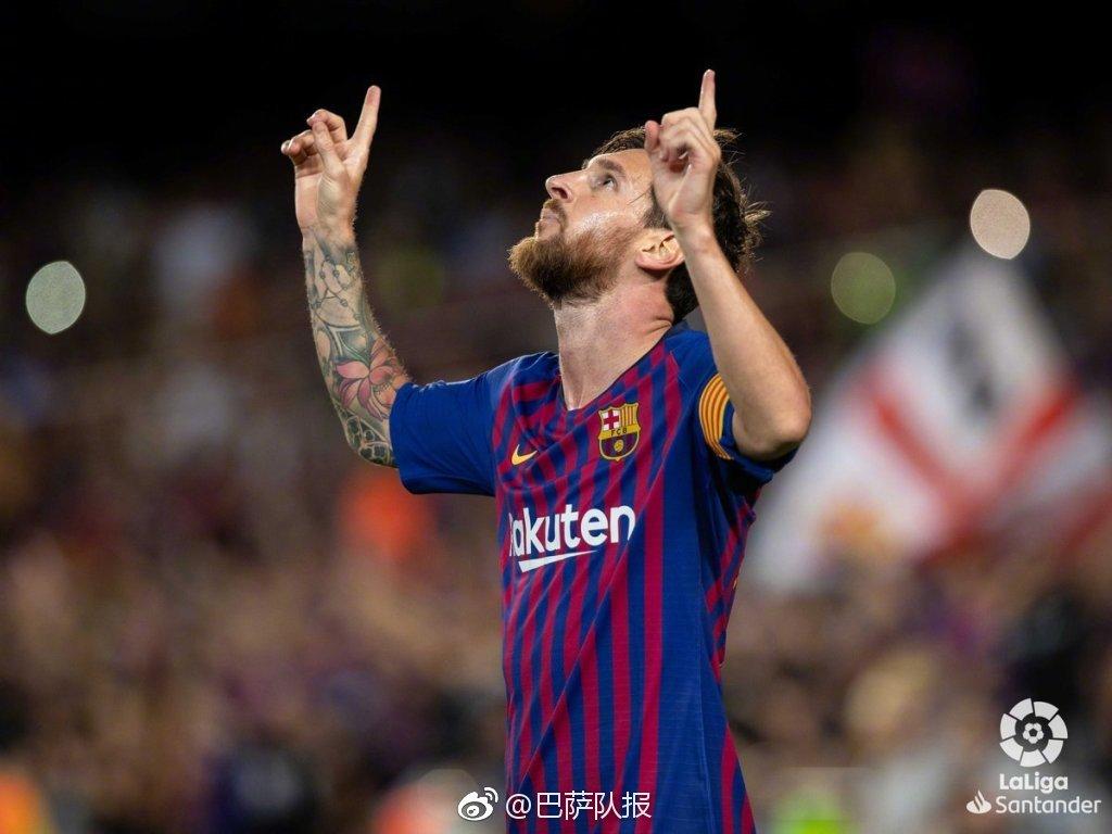 2018-2019赛季西甲首轮巴塞罗那3:0阿拉维斯之梅西1图片