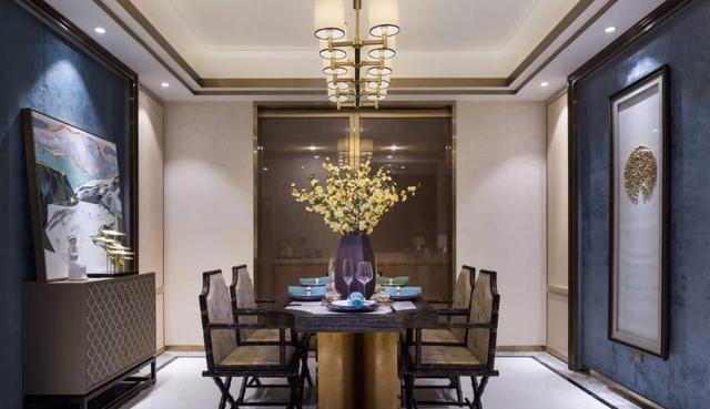郑州215平新中式风格大平层装修,轻奢素雅,独有的清新图片