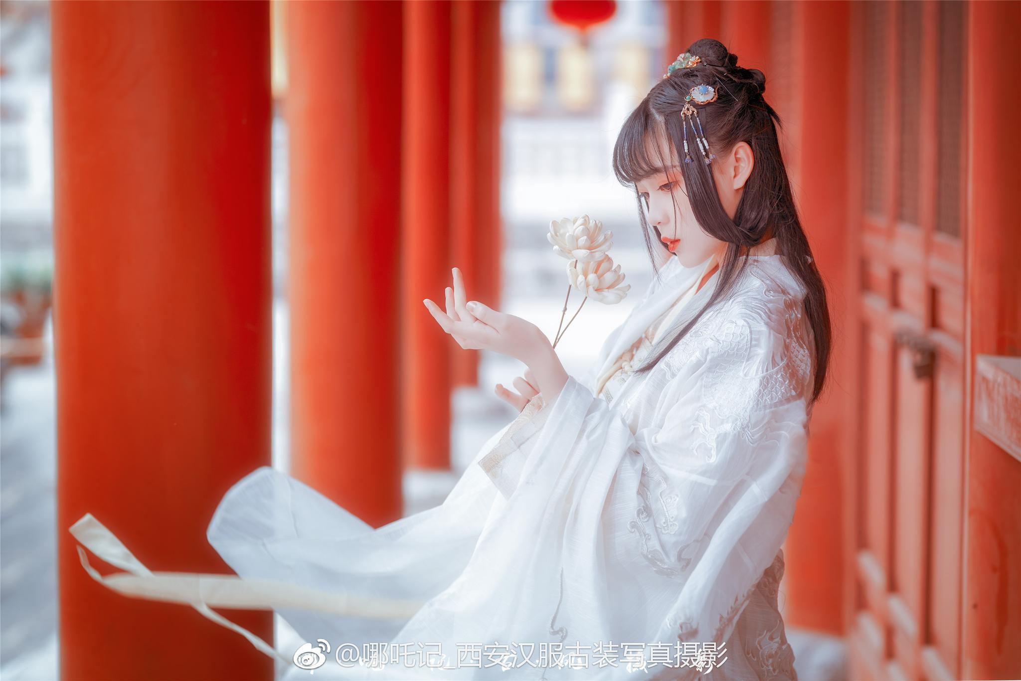 仙女大概就是这样了吧摄影后期: @哪吒记_西安汉服古装写真摄影
