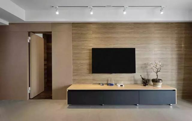 电视背景墙v电视,隐形门扩大视野墙的门槛哦家装设计师背景图片