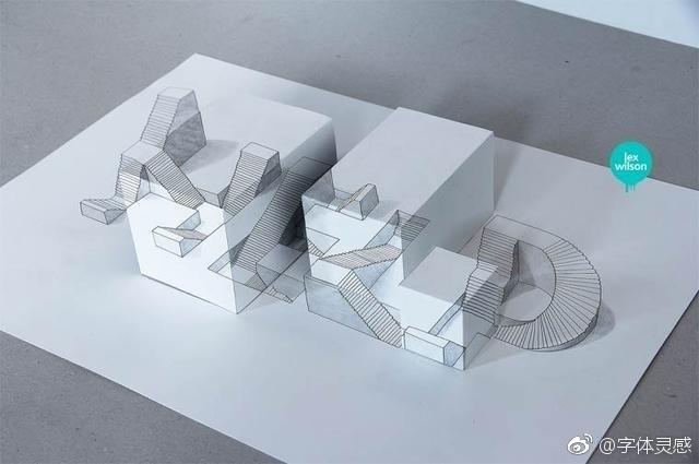 创意手绘3d字体设计