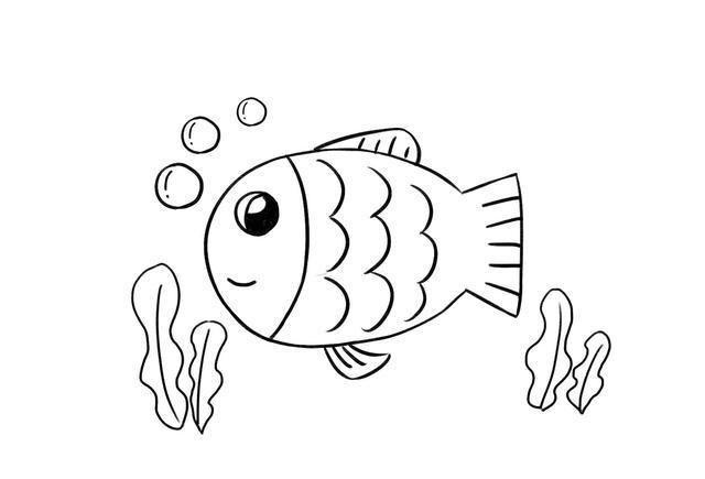 儿童简笔画教程 这样教宝宝画小鱼就对了!