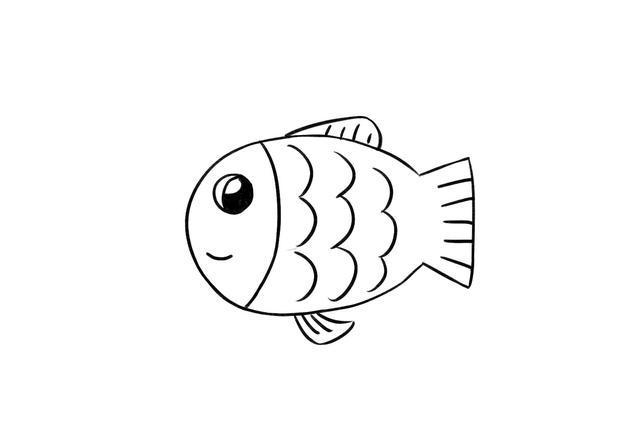 有小朋友留言给飞飞说,想学画小鱼简笔画.