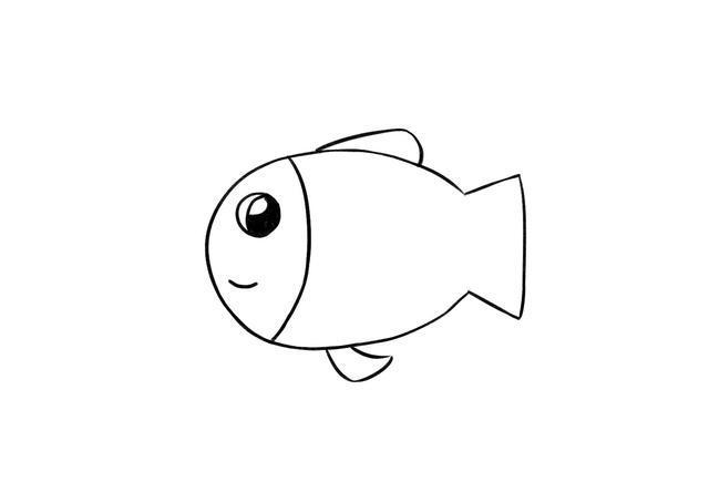 儿童简笔画教程 这样教宝宝画小鱼就对了