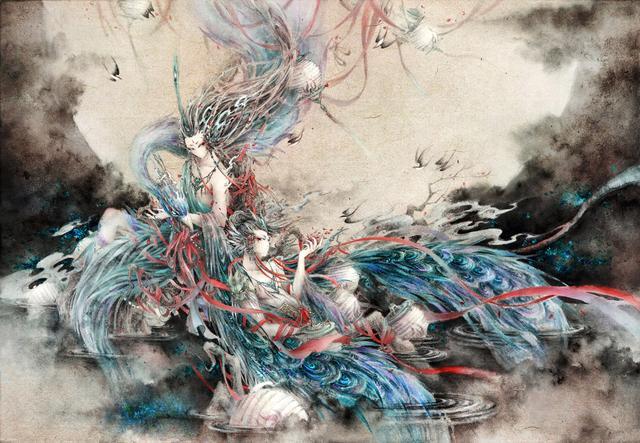百妖异闻,缥缈绝美,人气插画师杉泽手绘《山海经》百妖插画精选