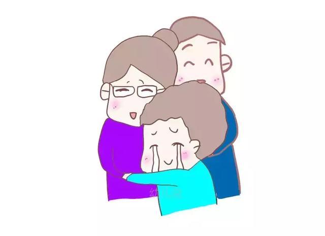 拥抱妈妈卡通图片
