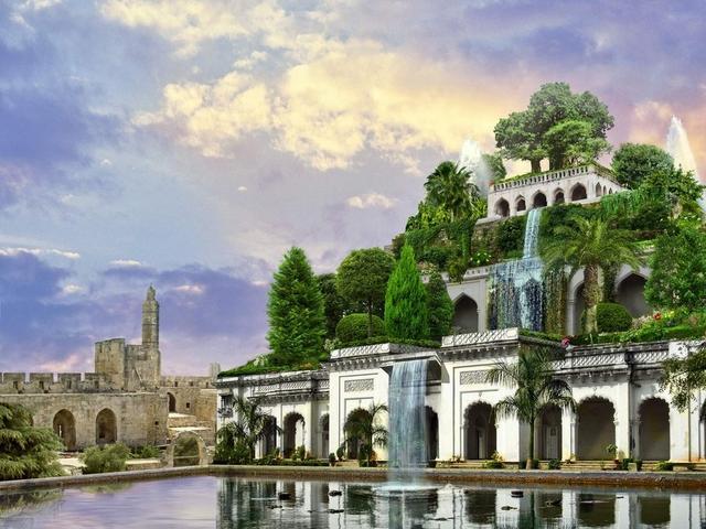 叙利亚公园设计手绘图