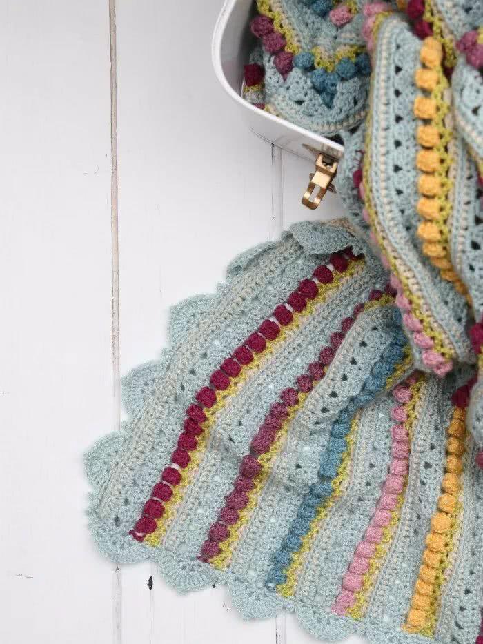 编织达人一步一步教你做钩针毯子!