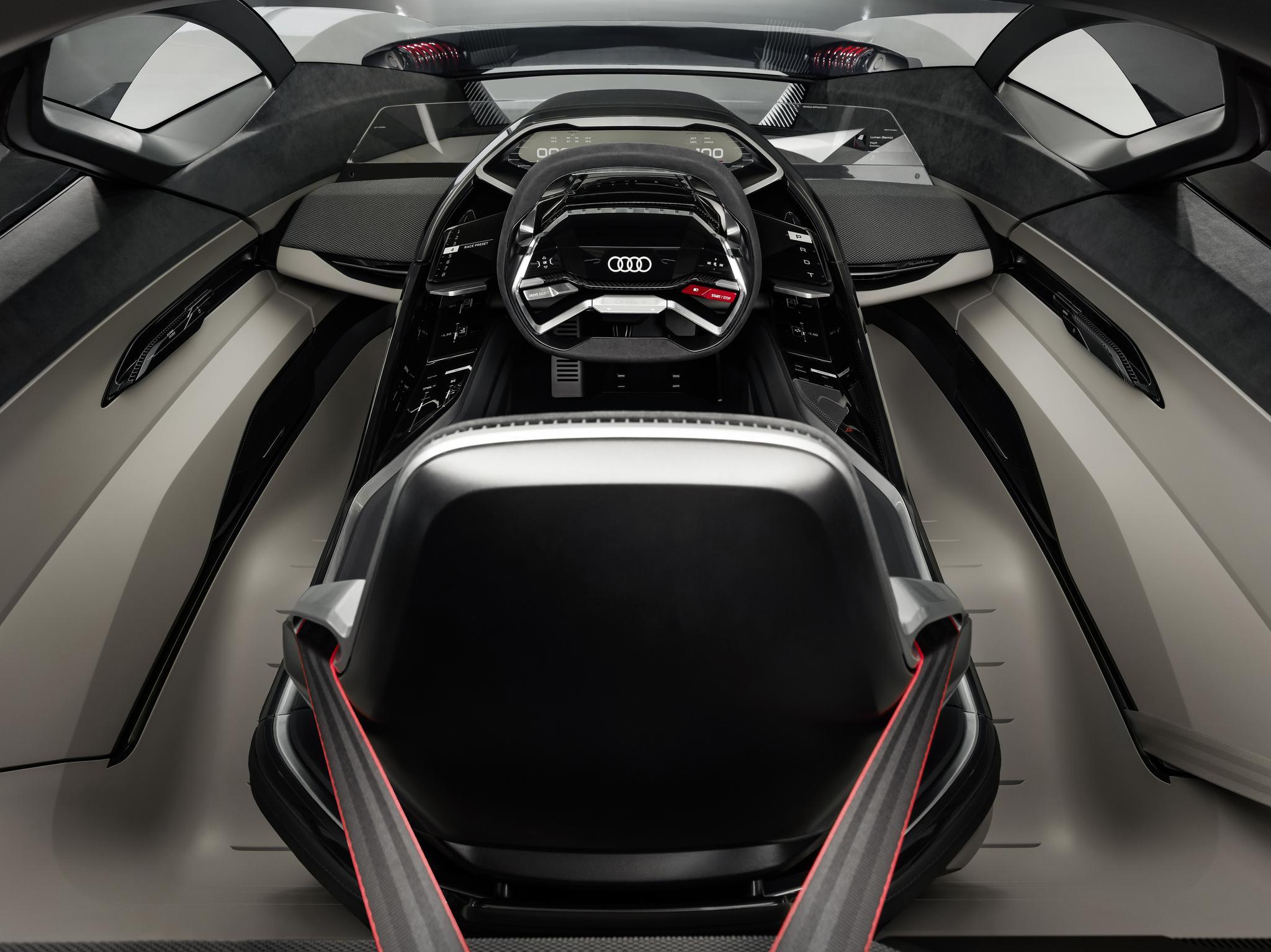 驾驶座舱可移动,奥迪PB18 e-tron概念车全球首秀