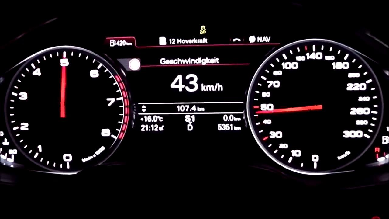 12缸的奥迪A8L加速实拍,这和R8有一拼