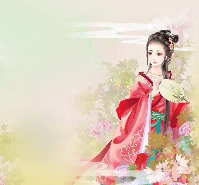古风手绘美人图:万里江山不如你眉间一点朱砂