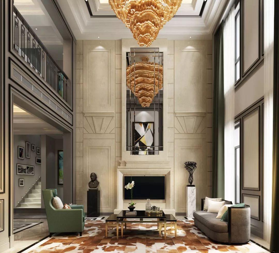 挑高设计如何打造别墅豪宅气质?|挑高|客厅|别墅_新浪